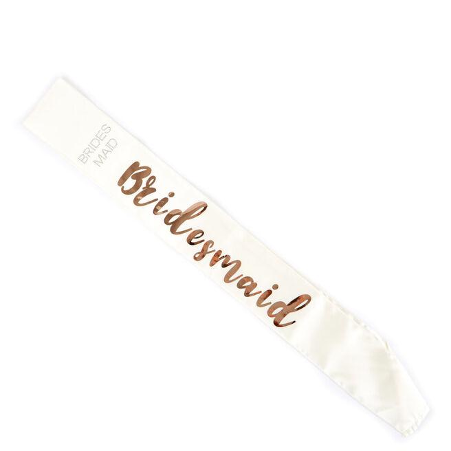 Cream & Rose Gold Bridesmaid Sash
