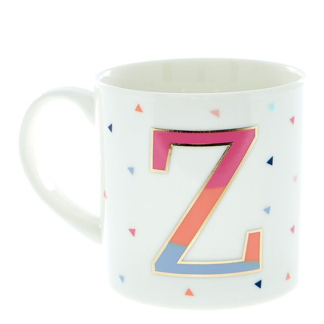 Letter Z Alphabet Mug