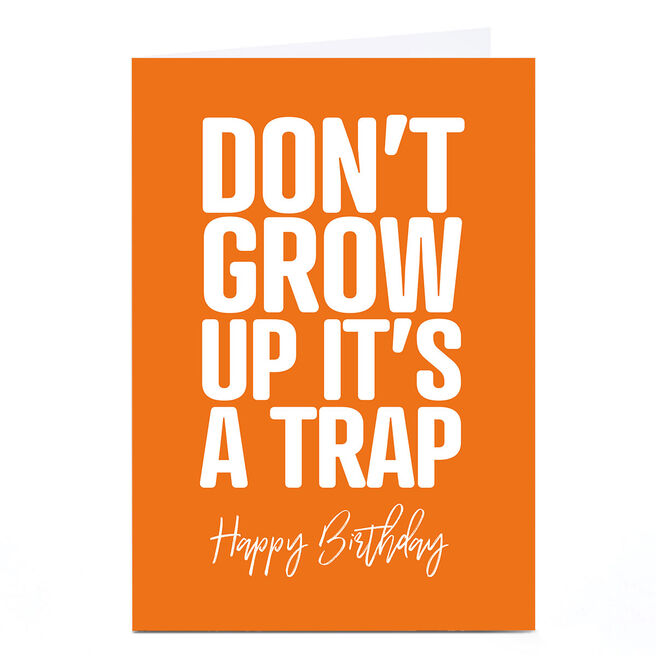 Personalised Punk Birthday Card - It's A Trap! | Card Factory