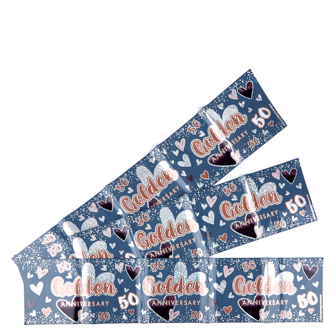 Golden Wedding Anniversary Banners - Pack Of 3
