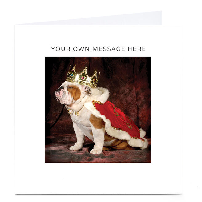 Personalised Card - Bulldog King
