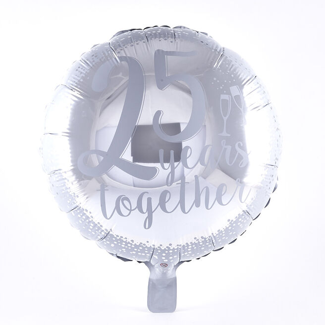 25 Years Together Anniversary Foil Helium Balloon