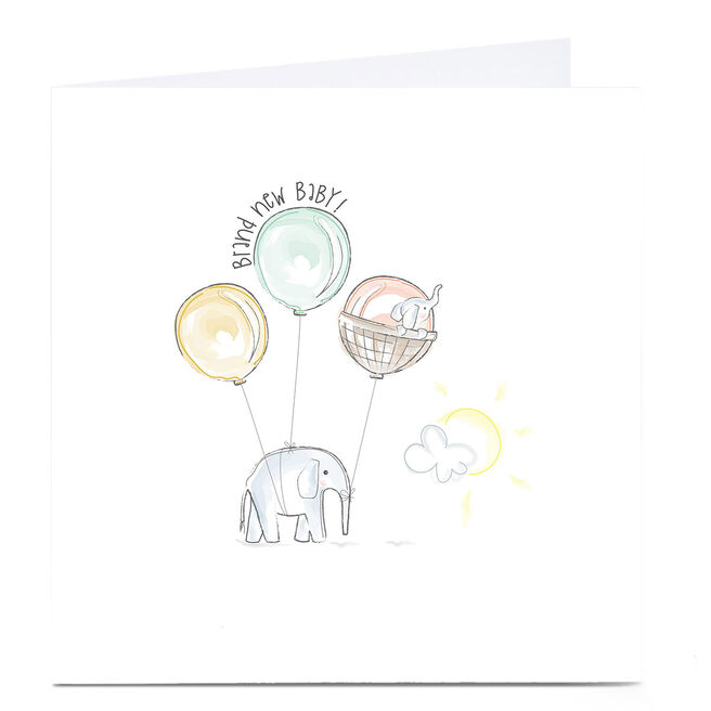 Personalised Rachel Griffin Birthday Card - Brand New Baby, 1