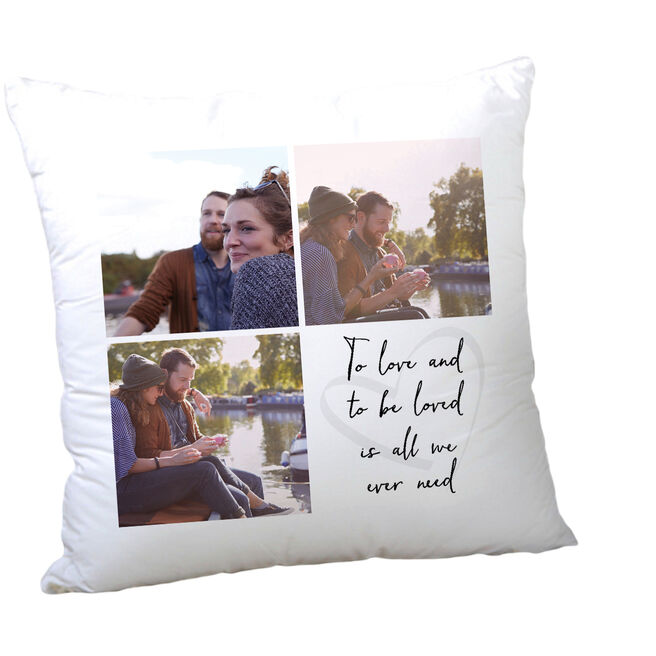 Multi Photo Valentine's Cushion - To Love and Be Loved