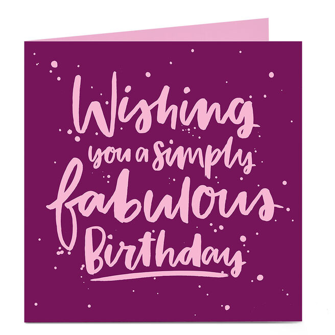 Personalised Bright Ideas Card - Wishing You A Simply Fabulous Birthday