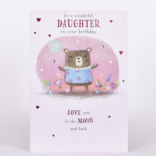 Signature Collection Birthday Card - Daughter Moon & Back