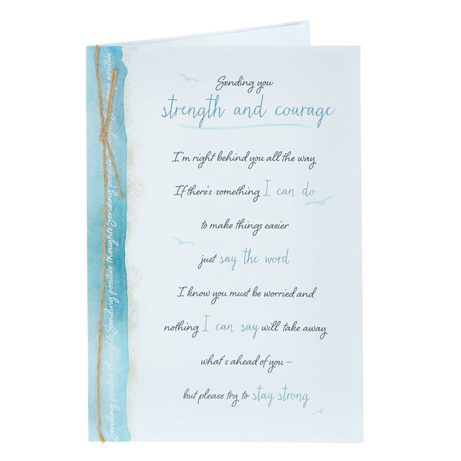 Thinking Of You Card - Strength & Courage