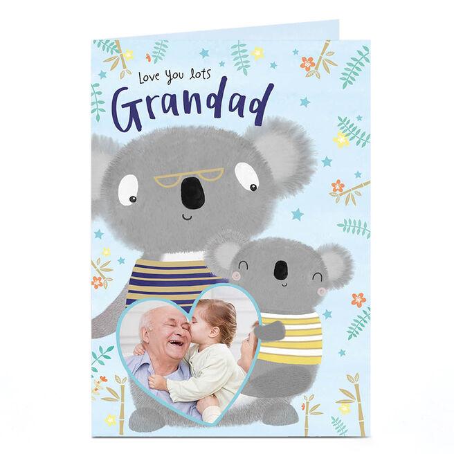 Photo Father's Day Card -  Grandad, Koalas