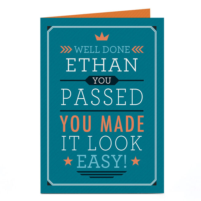 Personalised Congratulations Card - You Made It Look Easy