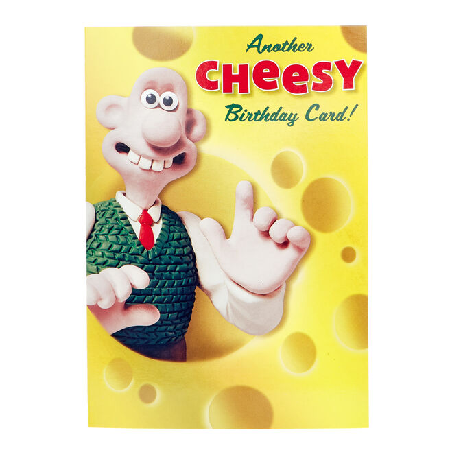 Wallace & Gromit Birthday Card - Cheesy