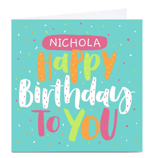 Personalised Nikki Whiston Birthday Card - Any Name