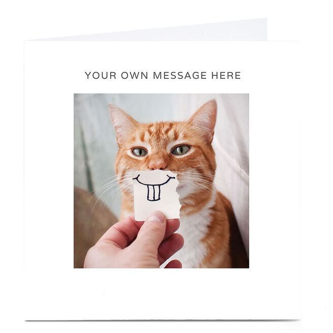 Personalised Card - Ginger Cat With Teeth