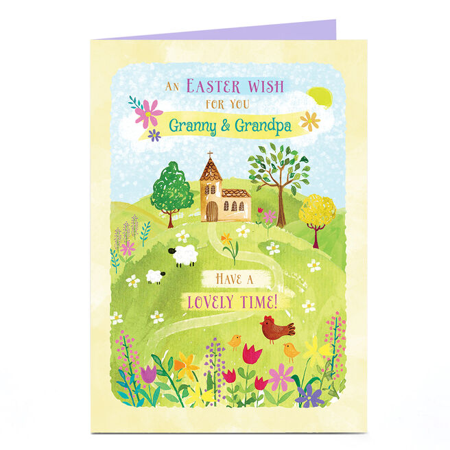 Personalised Easter Card - Have A Lovely Time