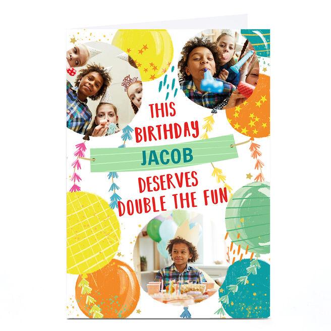 Photo Covid Birthday Card - Double Fun