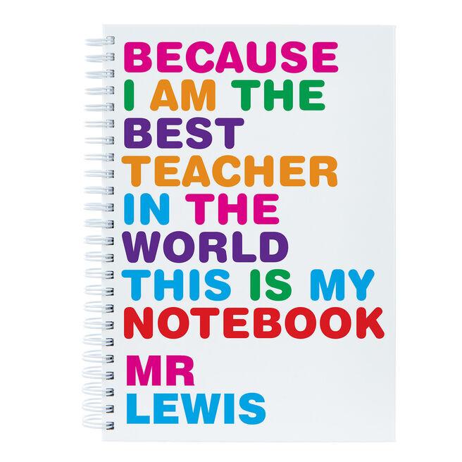 Personalised Best Teacher Notebook