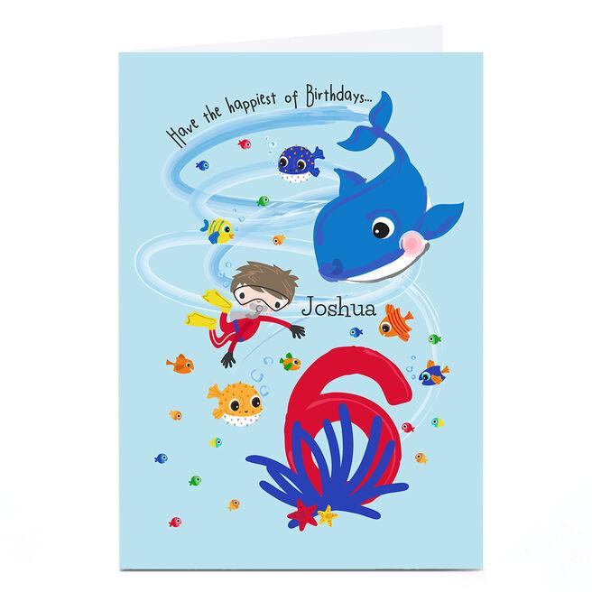Personalised Rachel Griffin Birthday Card - 6, Happiest Of Birthdays