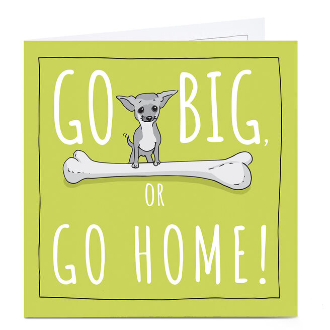Personalised Totally Pawsome Card - Go Big Or Go Home