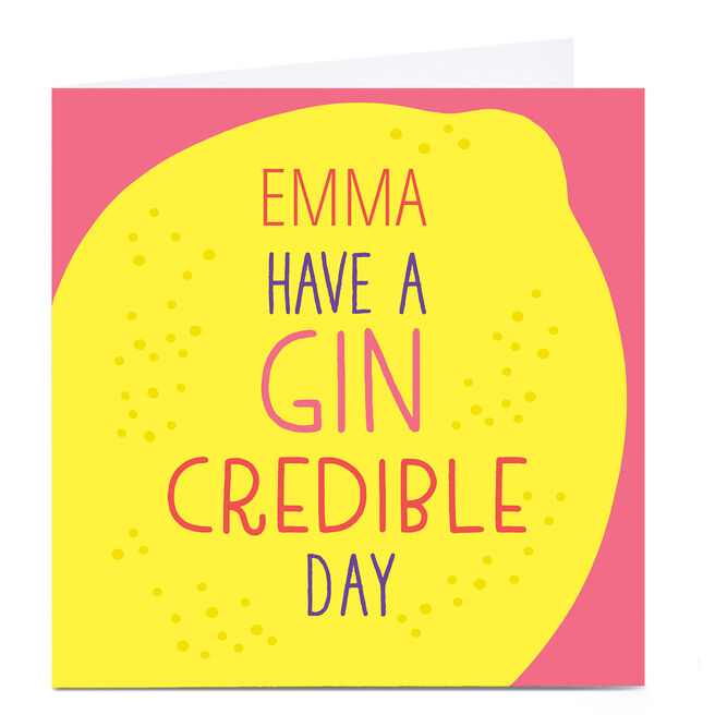 Personalised Hello! Card - Gin Credible Day