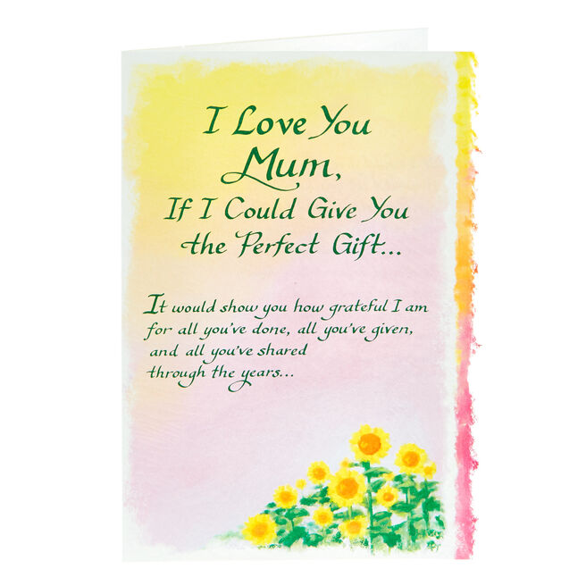 Blue Mountain Arts Card - I Love You Mum