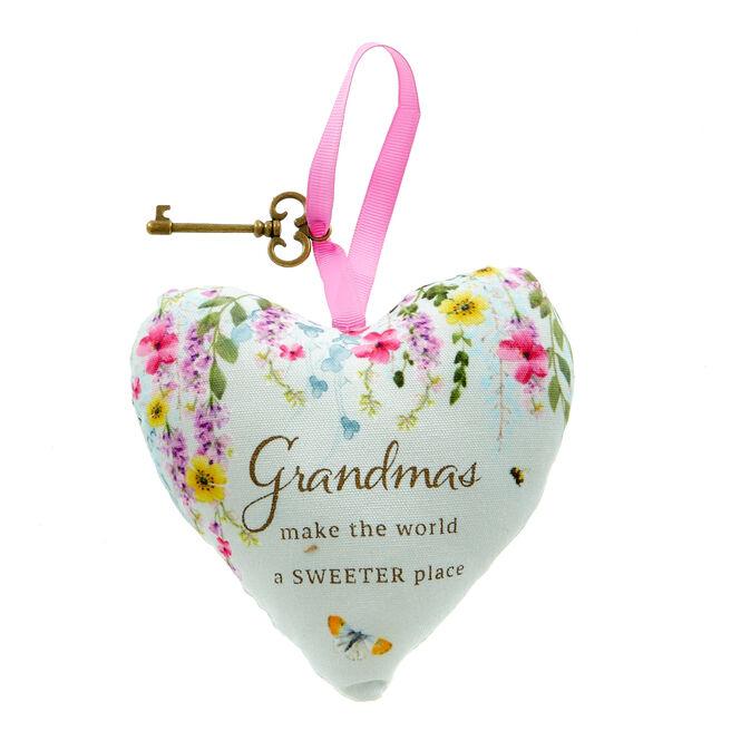 Grandma Lavender Scented Hanging Heart