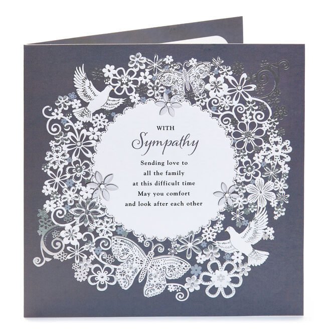Sympathy Card - Love To All The Family