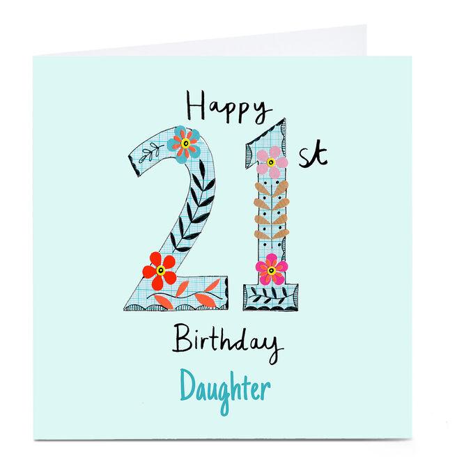 Personalised Lindsay Kirby 21st Birthday Card