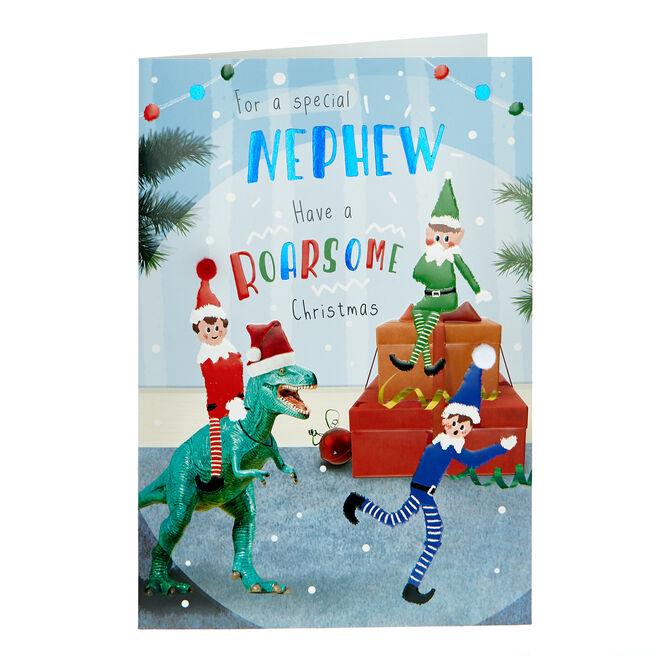 Christmas Card - Nephew Roarsome Christmas