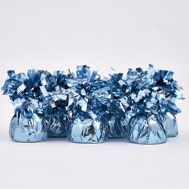 Light Blue Foil Balloon Weights - Pack of 12