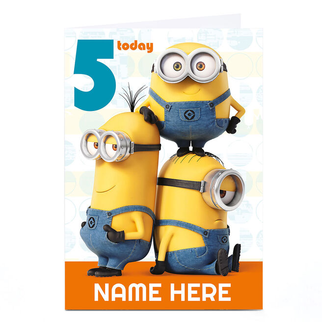 Personalised Despicable Me Card - Minion Age 5