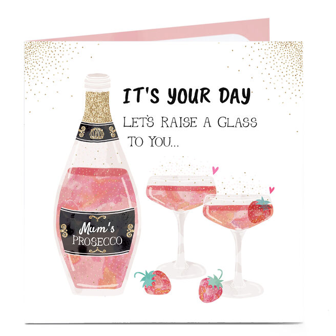 Personalised Mother's Day Card - Let's Raise A Glass