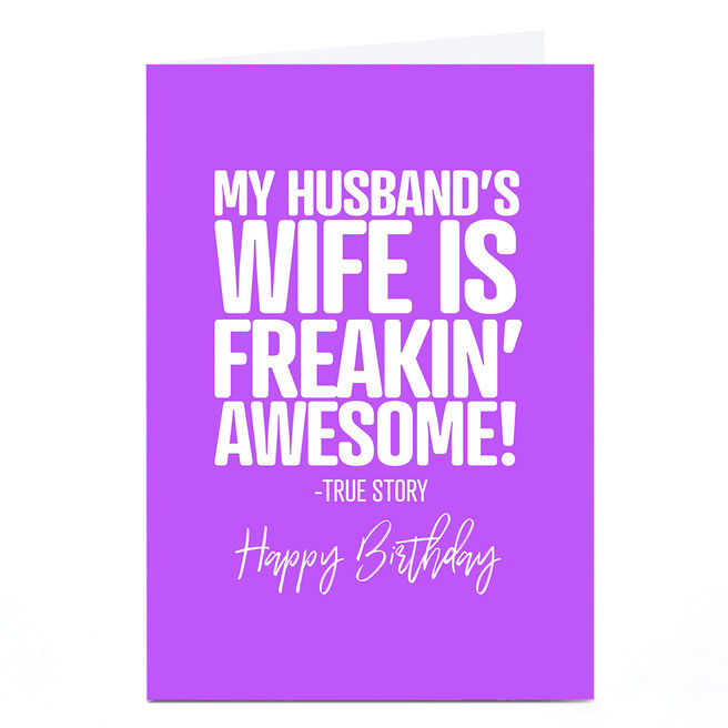 Personalised Punk Birthday Card - Husband From Wife
