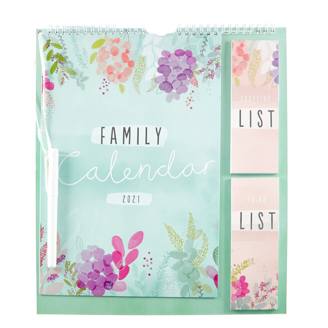 Floral Family 2021 Organiser With Pen