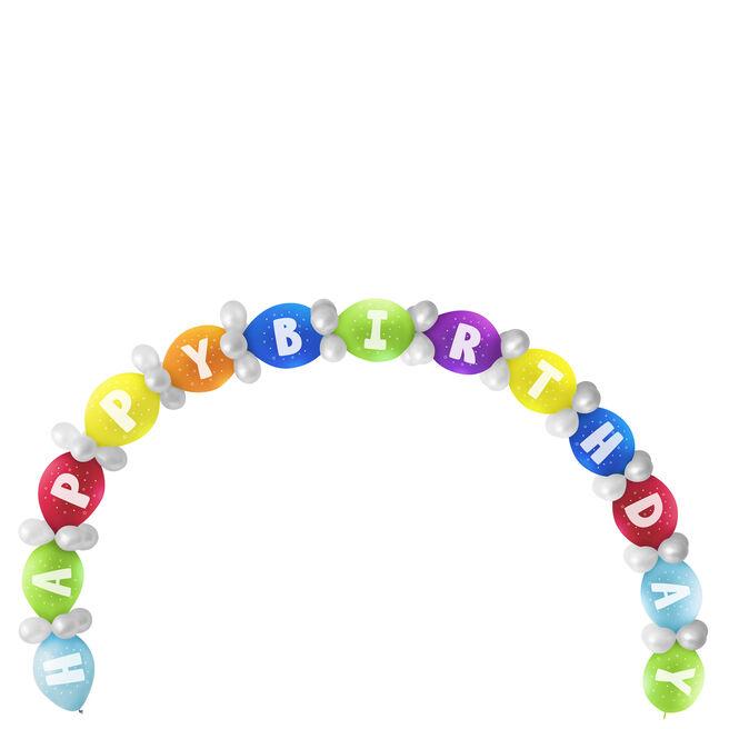 Happy Birthday Balloon Chain Kit - 65 Balloons