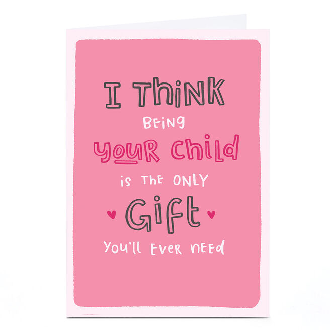 Personalised Blue Kiwi Mother's Day Card - Being Your Child