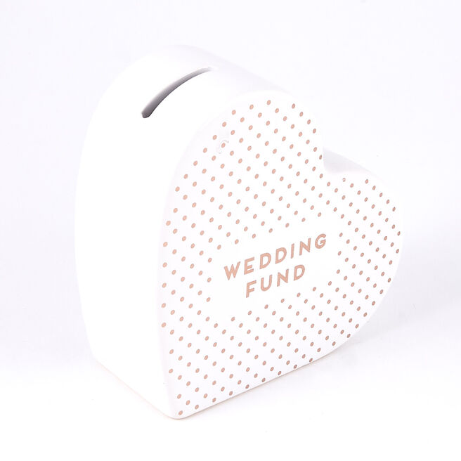 Wedding Fund' Money Box Heart