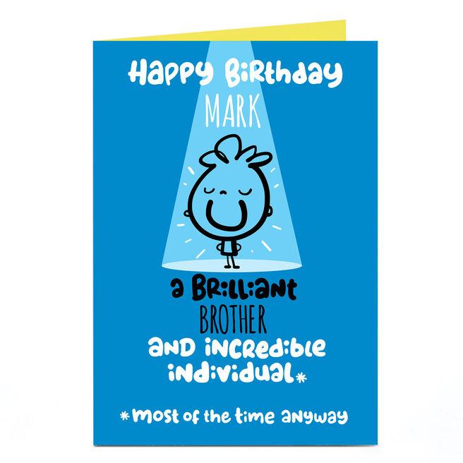 Personalised Fruitloops Birthday Card - Incredible Individual