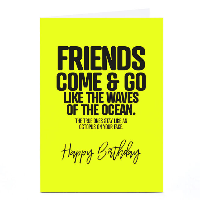 Personalised Punk Birthday Card - Friends Come & Go