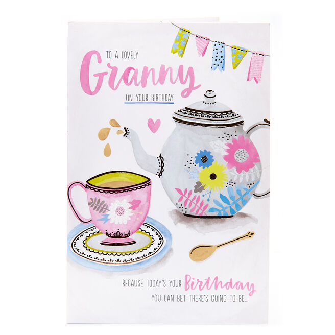 Birthday Card - To A Lovely Granny
