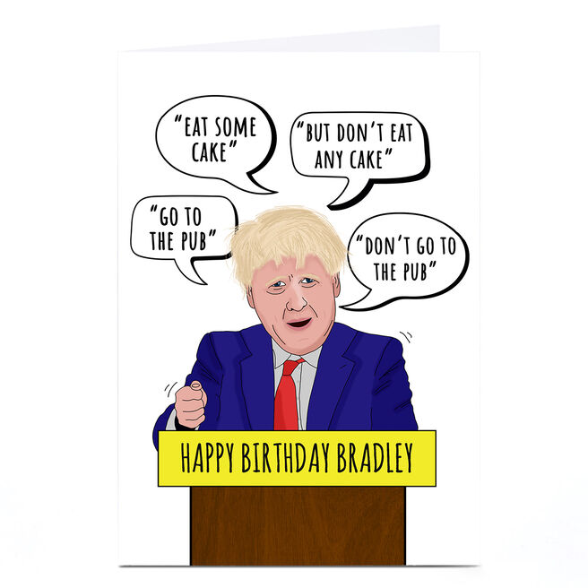 Personalised Birthday Card -  Eat Some Cake