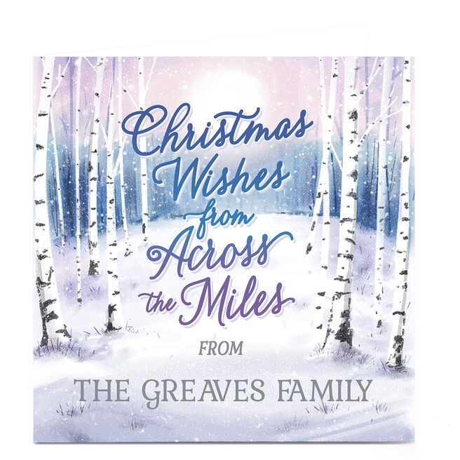 Personalised Christmas Card - Across the Miles Winter Woods