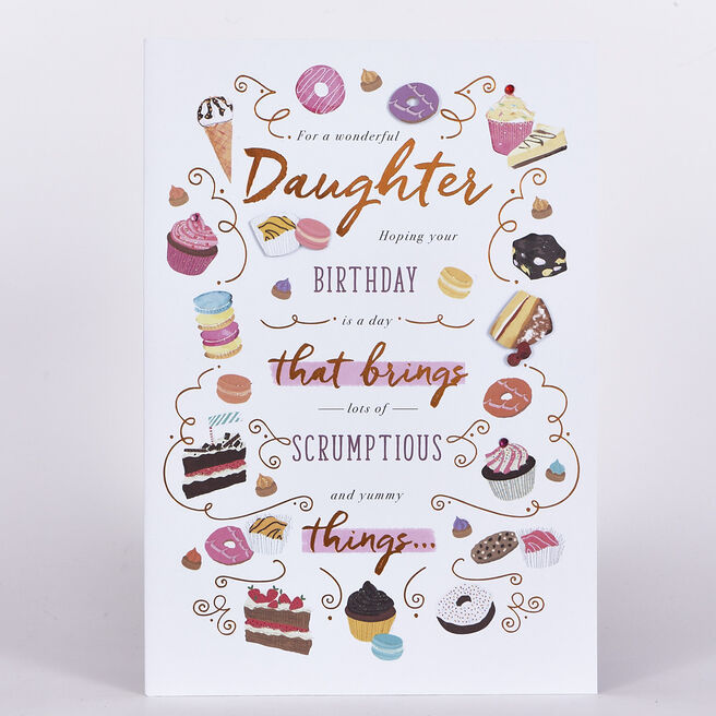 Signature Collection Birthday Card - Daughter Sweet Treats