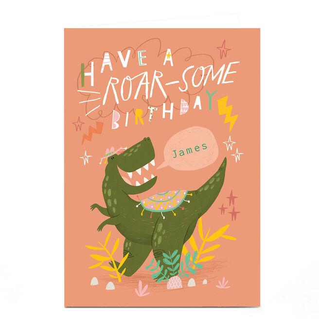 Personalised Jordan Wray Birthday Card - Roar-some