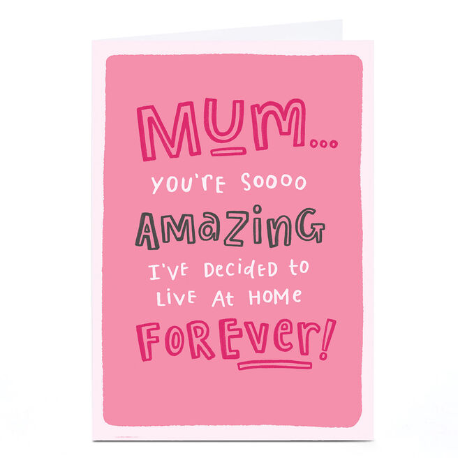 Personalised Blue Kiwi Mother's Day Card - Live At Home Forever