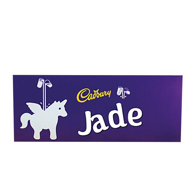 Personalised 850g Cadbury Dairy Milk Bar - Unicorn
