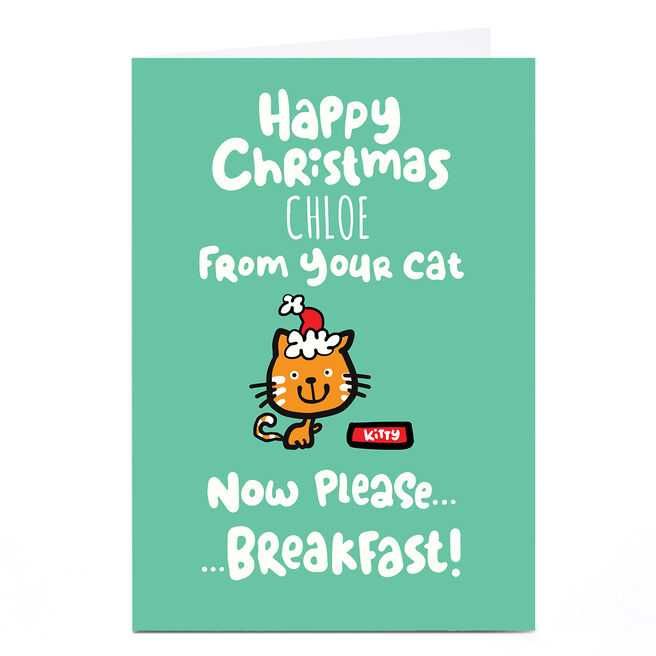 Personalised Fruitloops Christmas Card - From Your Cat