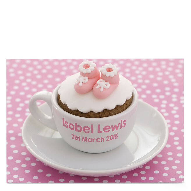 Personalised Card - Baby Girl Cupcake