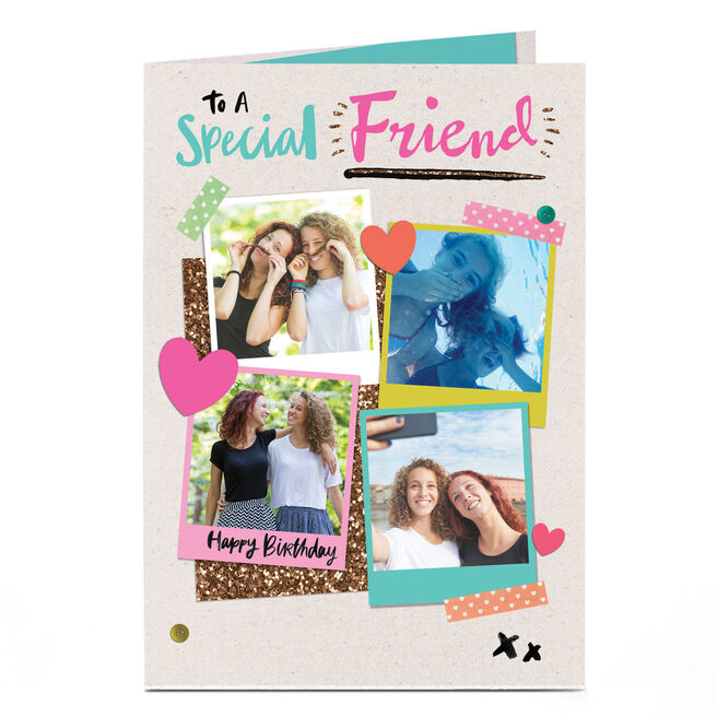 Photo Birthday Card - To A Special Friend