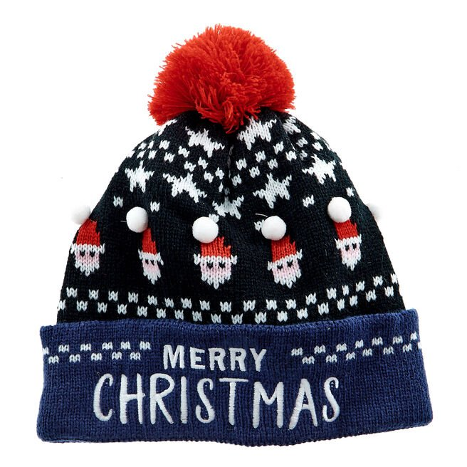 Merry Christmas Santa Knitted Hat