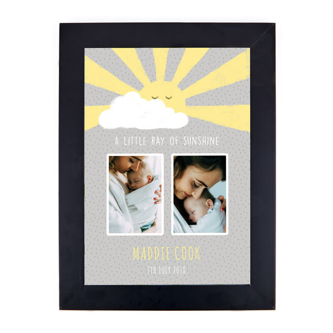 Personalised Photo Print - Little Ray Of Sunshine