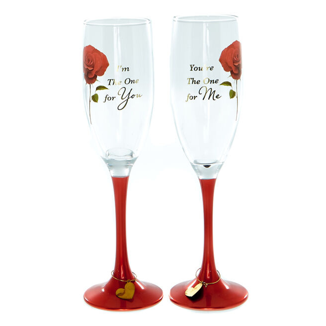 Only You Set Of 2 Romantic Champagne Flutes